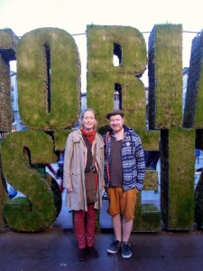 Mediendidaktikerin Rita von Eggeling mit DAAD-Sprachassistent Stefan Baumbach in Vitoria-Gasteiz